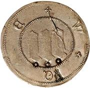 3 Pfennig (Präsenzzeichen; Countermarked) – obverse