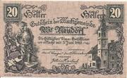 20 Heller (Wiener Neudorf) – obverse