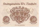 50 Heller (Wiener-Neustadt) – reverse