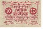 10 Heller (Wiener-Neustadt) – reverse
