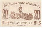 20 Heller (Wiener-Neustadt) – reverse