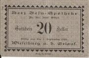 10 Heller (Wieselburg - Herz-Jesu-Apotheke) – obverse