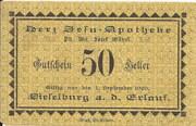 50 Heller (Wieselburg - Herz-Jesu-Apotheke) – obverse