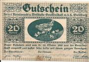 20 Heller (Wieselburg - Kleintierzucht u. Wirtschafts-Genossenschaft) – obverse
