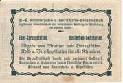 20 Heller (Wieselburg - Kleintierzucht u. Wirtschafts-Genossenschaft) – reverse