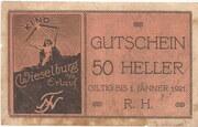 50 Heller (Wieselburg) – obverse