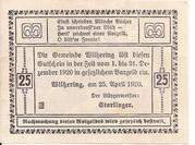25 Heller (Wilhering) -  reverse