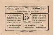 20 Heller (Windhag bei Waidhofen an der Ybbs) -  reverse
