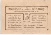 20 Heller (Windhag bei Waidhofen an der Ybbs) – reverse