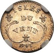 6 Sols - Louis XV – reverse
