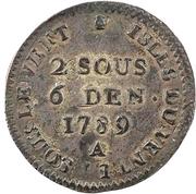 2 Sous, 6 Deniers - Louis XVI – reverse