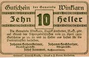 10 Heller (Winklarn) -  reverse