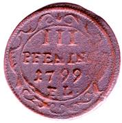 3 Pfennig - Adolph Fredrik (Swedish Occupation) – reverse