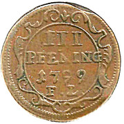 3 Pfennig - Gustav IV Adolph (Swedish Occupation) – reverse