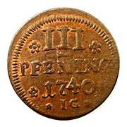 3 Pfennig - Fredrik I (Swedish Occupation) – reverse