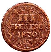 3 Pfennig - Friedrich Franz – reverse