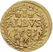 1 Albus (Gold pattern strike) – reverse