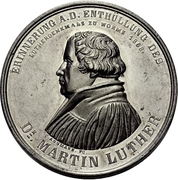Medal - Establishment of the Luther monument - Martin Luther (Worms) – obverse