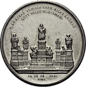 Medal - Establishment of the Luther monument - Martin Luther (Worms) – reverse