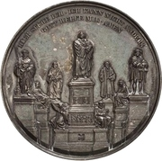 Medal - Establishment of the Luther monument (Worms) – obverse