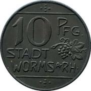 10 Pfennig - Worms – obverse