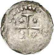 1 Pfennig - Heinrich V. and bishop Burkhard II. von Asorn – reverse