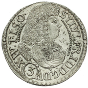3 Kreuzer - Sylvius Friedrich – obverse