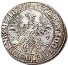 6 Kreuzer - Sylvius Friedrich – reverse