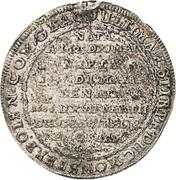 ¼ Thaler - Sylvius Friedrich (Death) – reverse