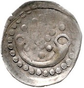 1 Pfennig - Eberhard V., Ulrich V. and Christian from Baden (Jagdhornpfennig) -  reverse