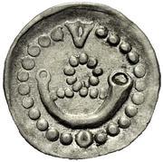1 Pfennig - Graf Ulrich V. der Vielgeliebte – obverse