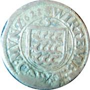 3 Kreuzer - Johann Friedrich – reverse