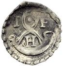 1 Pfennig - Johann Friedrich I. – obverse