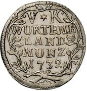 5 Kreuzer - Eberhard Ludwig – reverse