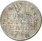 ⅙ Thaler - Karl Eugen – reverse
