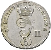 6 Kreuzer - Friedrich II – obverse