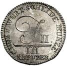 3 Kreuzer - Friedrich II. – obverse
