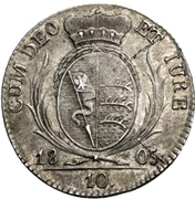 10 Kreuzer -  Friedrich II – reverse
