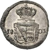 1 Kreuzer - Friedrich II. -  reverse