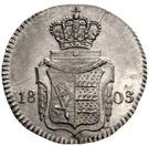 3 Kreuzer - Friedrich II. – reverse