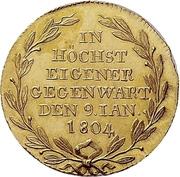 1 Ducat - Friedrich II. (Mint visit) – reverse