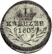 1 Kreuzer - Friedrich II. – reverse