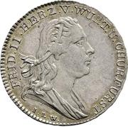 1 Ducat - Friedrich II. (Silver pattern strike; Mint visit) – obverse