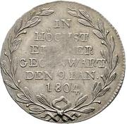1 Ducat - Friedrich II. (Silver pattern strike; Mint visit) – reverse