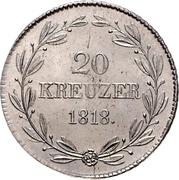 20 Kreuzer - Wilhelm I. – reverse
