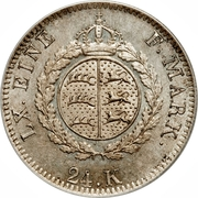 24 Kreuzer - Wilhelm I. – reverse