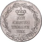 1 Thaler - Wilhelm I. (Kronentaler) – reverse