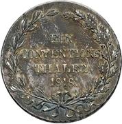 1 Thaler - Wilhelm I. (Konventionstaler) – reverse