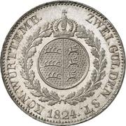 2 Gulden - Wilhelm I. – reverse