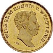 10 Gulden - Wilhelm I. – obverse